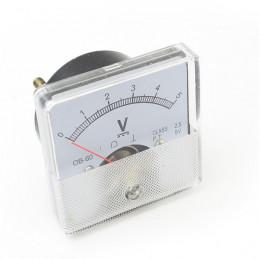 Panel Meter 60X60 - Voltmeter 5V DC