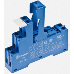 95.05 Relay Base socket Industrial DIN rail DPDT 95.05SPA