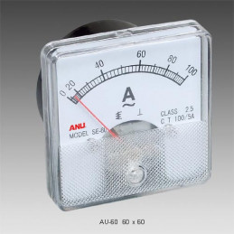Panel Meter 60X60 - Ammeter 100mA DC