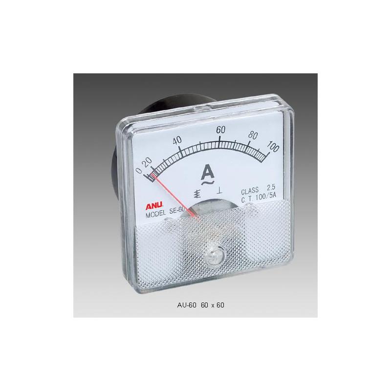 Panel Meter 60X60 - Ammeter 100mA DC