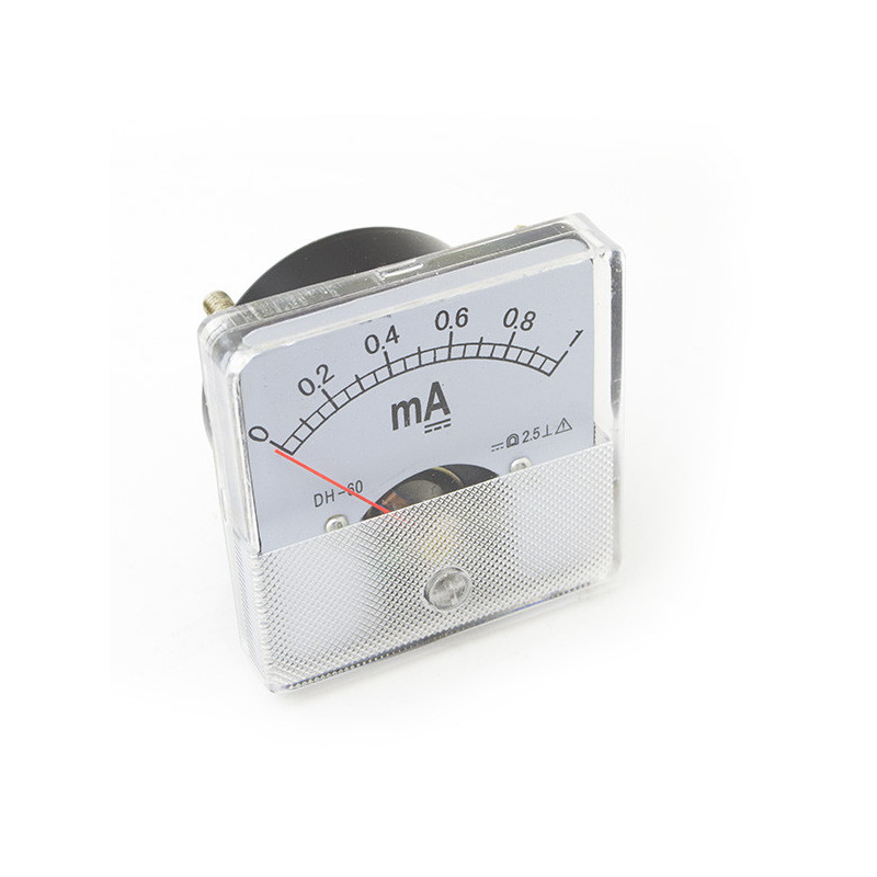 Panel Meter 60X60 - Ammeter 1mA DC