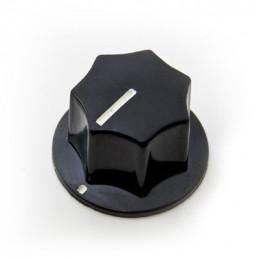 Knob plastic Screw type S8865 Black 25mm