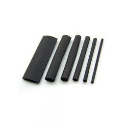 Heat Shrink Tubing 6MM BLACK - Per Metre