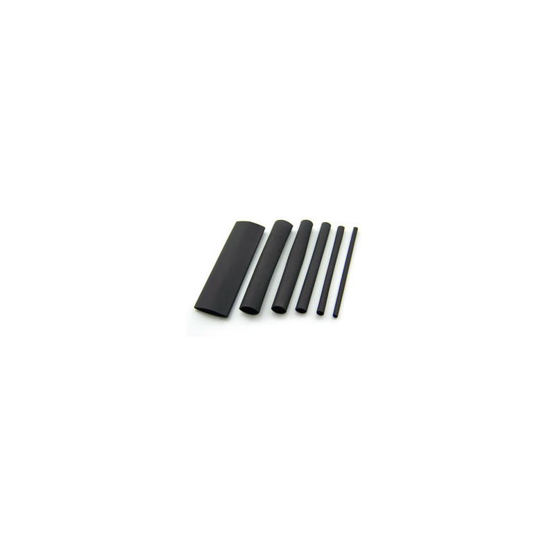 Heat Shrink Tubing 11MM BLACK - Per Metre