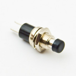 B163A Mini Push Button N/O Black