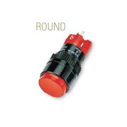 D16 Push Button Illuminated Round Red Latch 1NO 1NC 16mm