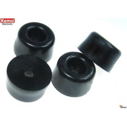 Case Feet Black Round small 12 x 7 mm