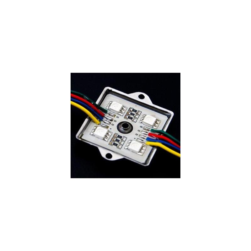 LED Module 4 x 5050 Chip LEDS - RGB 12V
