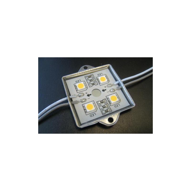 LED Module 4 x 5050 Chip LEDS - Yellow 12V