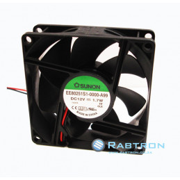FAN 80x80x25 12VDC 1.7W