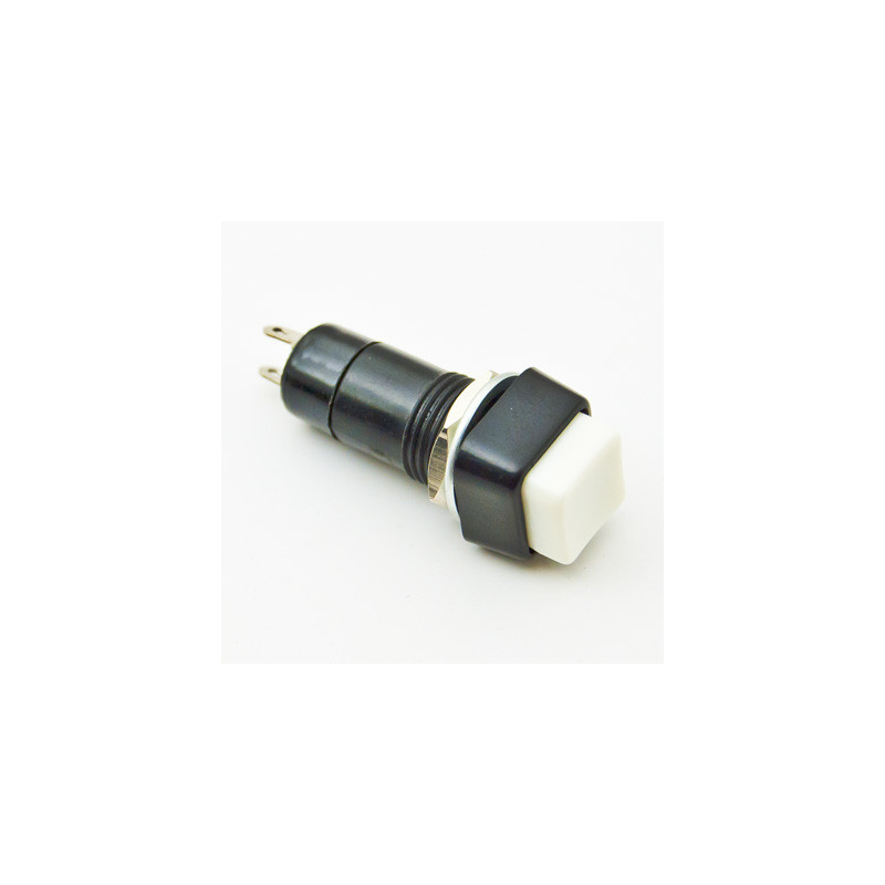 B160A Push Button Square White ON/OFF Latching