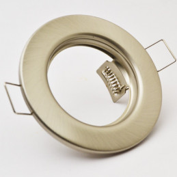 Downlight Fitting Satin Nickel Fixed