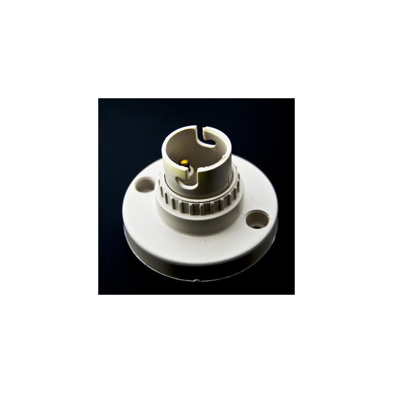 Lamp Holder BA15 Plastic White