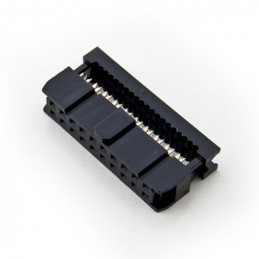20-PIN IDC SOCKET CABLE MOUNT