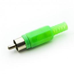 RCA plug plastic Green