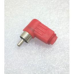 RCA Plug 90 deg Red Plastic