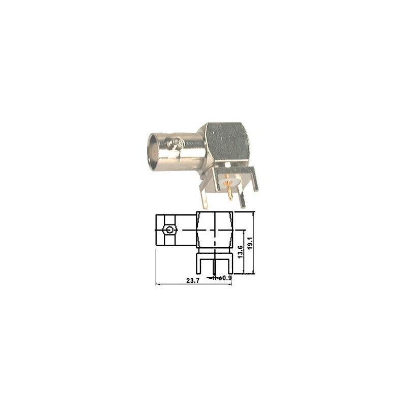 BNC socket pcb mount r/a