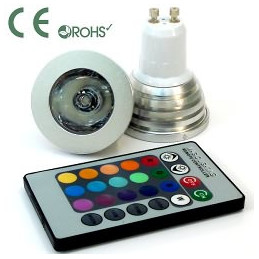 GU10 3W LED Downlight - RGB - 220VAC With Remote