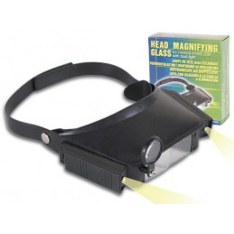 VTMG6 illuminated visor magnifier