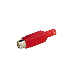 RCA Socket Inline Red