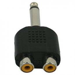 6.3mm mono jack to dual RCA sockets
