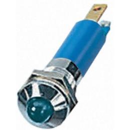 LED Indicator Light 12VDC Blue 8mm