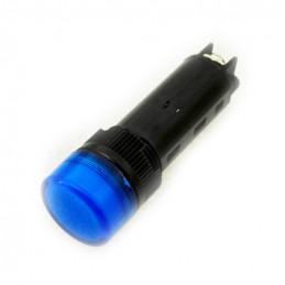 LED pilot light 220VAC Blue 16mm