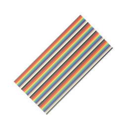Flat Ribbon Cable 14 way Coloured - Per Metre