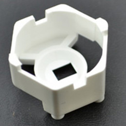 Carclo 20mm Hex Optic Holder With Pegged Feet - White