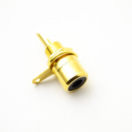 RCA Socket Gold Black