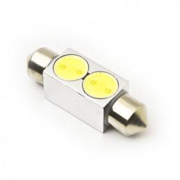 Festoon LED Bulb 12V 2 LED 1W White 37mm