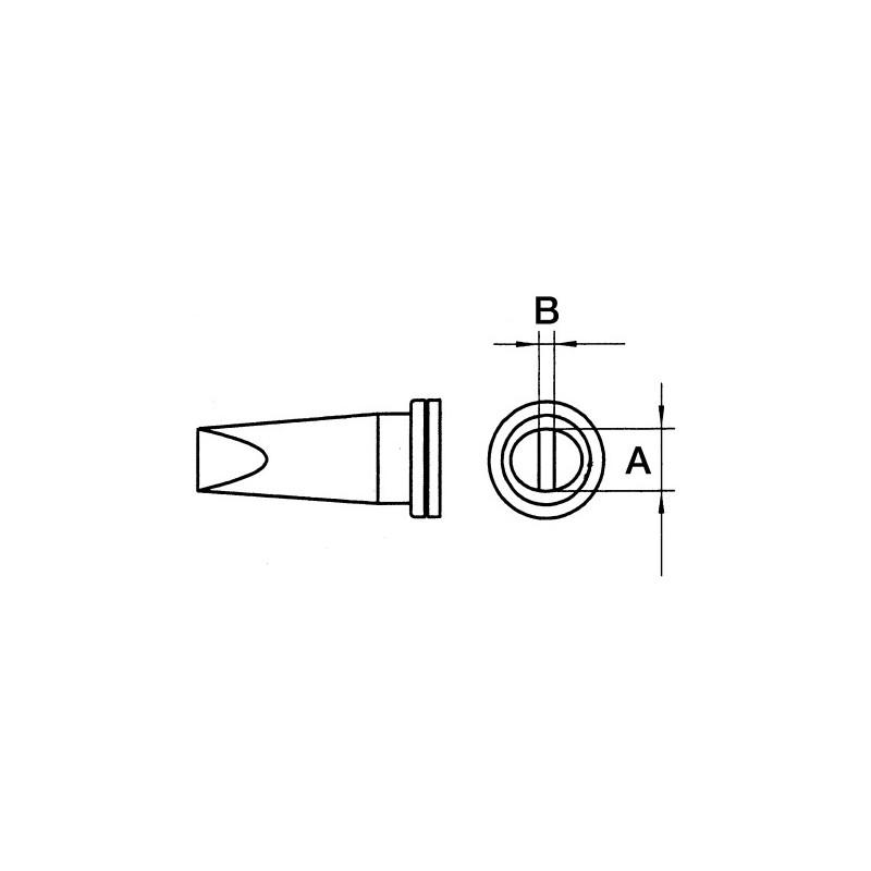 Weller Solder Tip LT-A chisel tip - WSP80/FE75 iron 1.6mm
