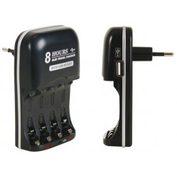NIMH battery charger with USB output