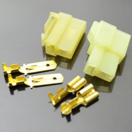 Wire to wire connector housing 2way male/female