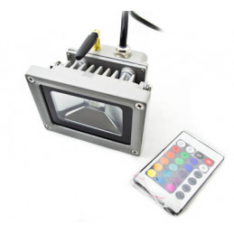 LED Floodlight 10W RGB- 220VAC with Remote (RF)