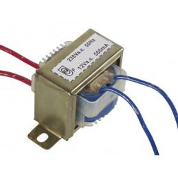 Transformer 500mA 12V AC