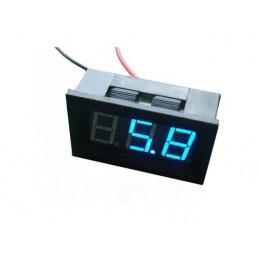 Panel Meter Voltmeter 48x24 4.5-30V BLUE