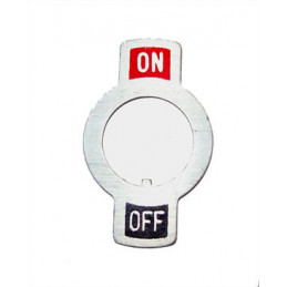 Toggle Plate on-off - for M12 toggle switch