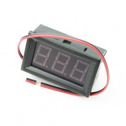 Panel Meter Voltmeter 48x28 3.3-30V Red