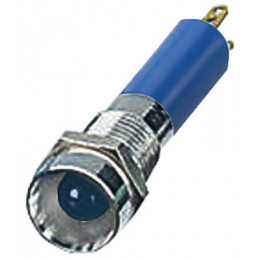 LED indicator Light 24VDC Blue 8mm