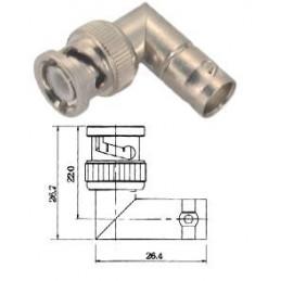 adaptor bnc plug - bnc sock r/a