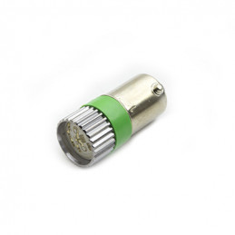 BA9S Led Lamp Green 12V AC/DC