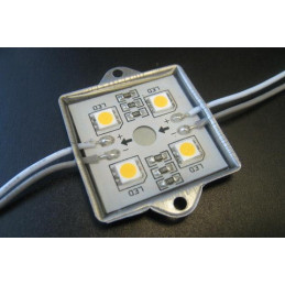 LED Module 4 x 5050 Chip LEDS - Warm White 12V