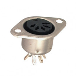 Din Socket Panel Mount 5 Pin 180 deg