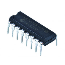 MCP3008-I/P, 10 bit ADC Differential, Serial, 16-Pin PDIP