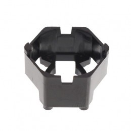 Carclo 20mm Hex Optic Holder With Pegged Feet - Black