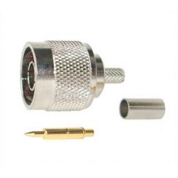 Plug N-type crimp RG58