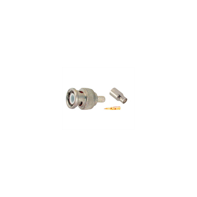BNC PLUG 2.6MM CRIMP RG174/9