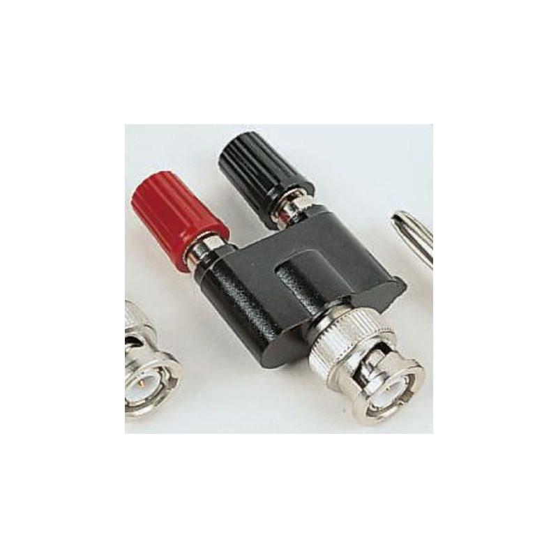 NiPt male BNC plug/2x4mm socket adaptor