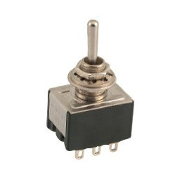 Mini Toggle Switch 3PDT C/off